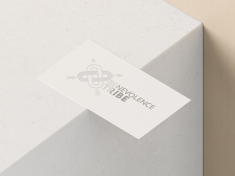 Benevolence Tribe Logo Design Business Card Mockup business card template design logo design branding logo mockup branding typography logo logo design logo design concept business card design business card mockup business card