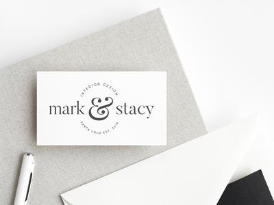 Mark & Stacy Interior Design Logo Mockup