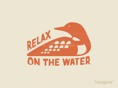 Relax with a Loon design illustration mark vector environment rustic texture grit sticker typography geometric loon vector bird illustration animal bird loon