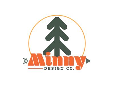 Minny Design Co. Mark prospect invite design environment nature retro tree mark logo