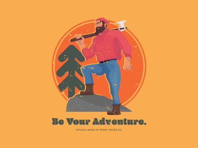Be Your Adventure Graphic paul bunyan sunset prospect invite minnydesign design shirt tshirt