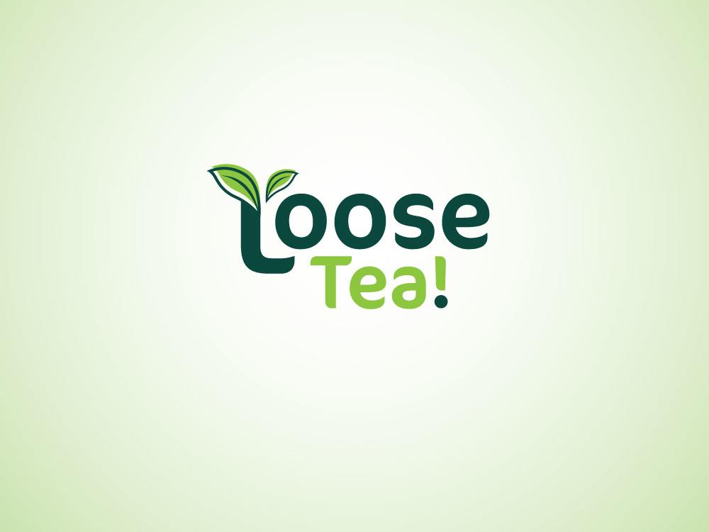 Loose Tea branding typography illustration vector design logo esolzlogodesign leaf tealeaf tea loose