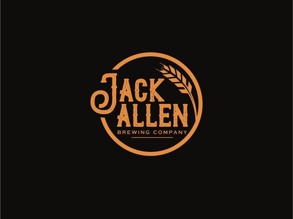 Jack Allen Brewing Company leaf health branding emblem vector illustration design logo esolzlogodesign wheat beer black company brewing allen jack