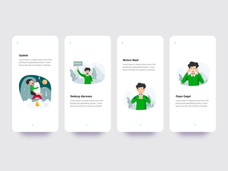 Static Page Illustration error page notification apps ilustrator art design mobile ui uidesign mobile simple illustration