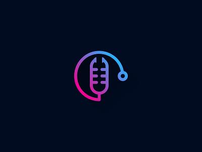 Medical Podcast podcast health medical medic idea symbol sale concept design branding icon logo
