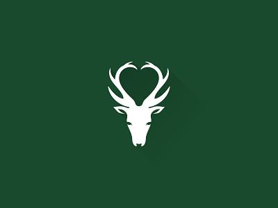 Deer Love heart hunt deer love idea symbol sale concept design branding icon logo