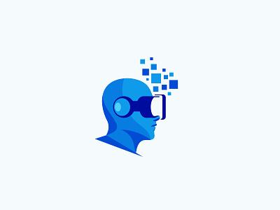 Virtual Reality game technology pixel digital vr virtual reality virtual idea design branding icon logo