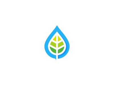 Nature Water green water leaf nature idea symbol sale concept design branding icon logo