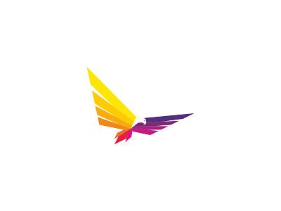 Eagle colorful fly bird falcon eagle idea concept design branding icon logo