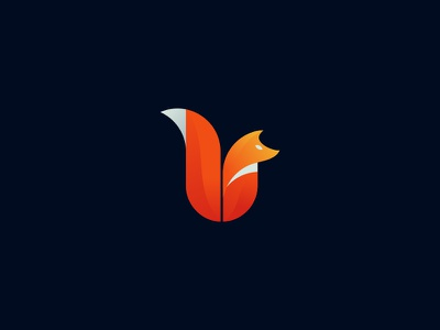 Fox orange dog animal wolf fox idea symbol concept design branding icon logo