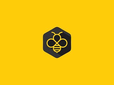 Infinity Bee honey hive bee infinity idea symbol sale concept design branding icon logo