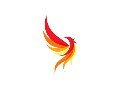 Phoenix bird fire phoenix idea symbol sale concept design branding icon logo