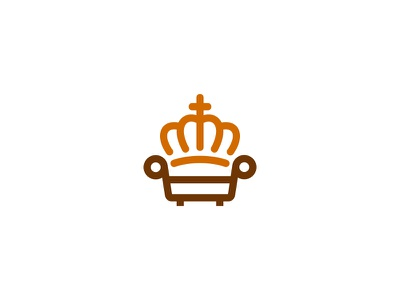 Royal Furniture chair furniture king royal idea symbol sale concept design branding icon logo