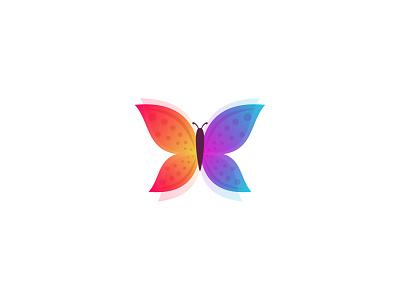 Butterfly animal colorful beauty fly butterfly idea symbol sale design branding icon logo