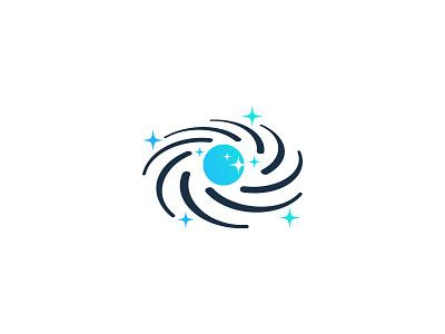 Galaxy universe star planet galaxy idea symbol sale concept design branding icon logo
