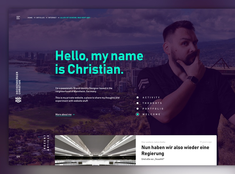 Private Website (wip) website ux ui web design webdesign