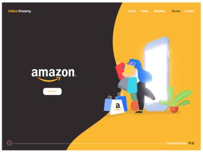 Amazon illustration Website