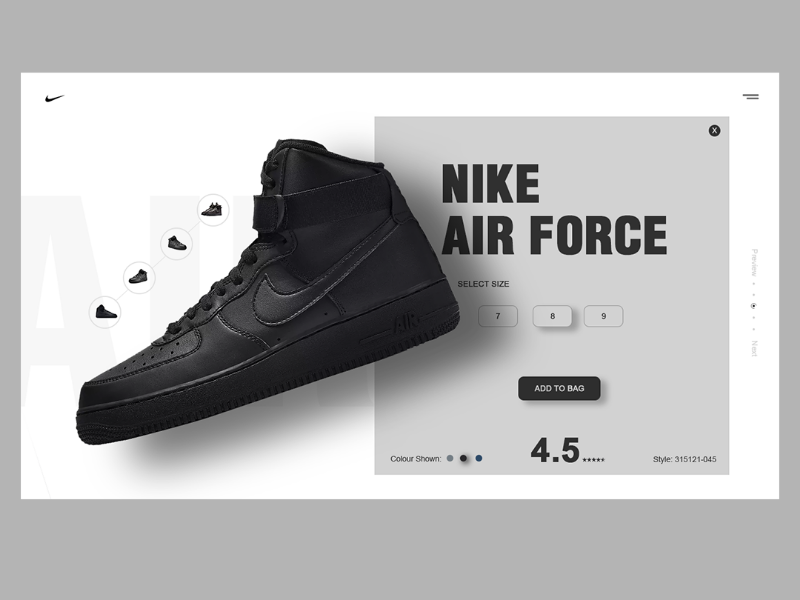 c9caddc68dec3 Nike online shopping site by vivan ram on Dribbble