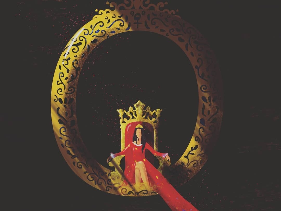 q vector illustration photoshop typography 36dayoftype queen