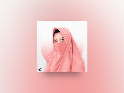 Pink Niqab | Vector