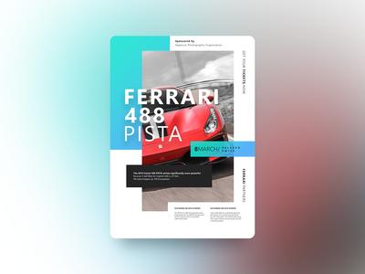 Ferrari 488 Pista | Poster