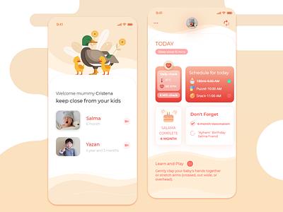 Nursery app app uxdesign ui design