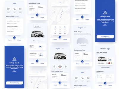 FordPass Redesign redesigned ford app blue vehicle app vehicle redesign ford pass fordpass ford cars clean design app ux ui