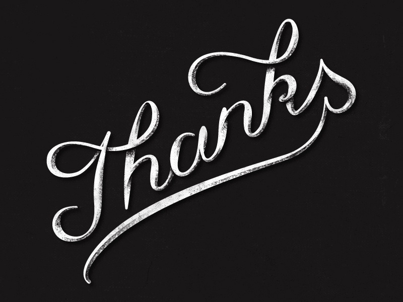 Thanks! thanks type typography lettering hand-lettering vector texture shadow photoshop debut