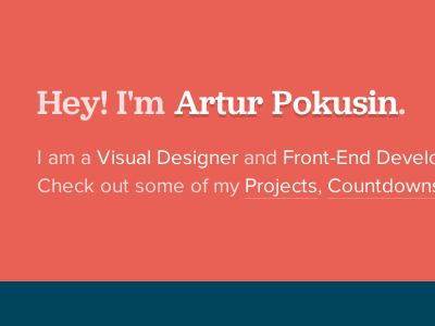 Personal Site Redesign portfolio personal