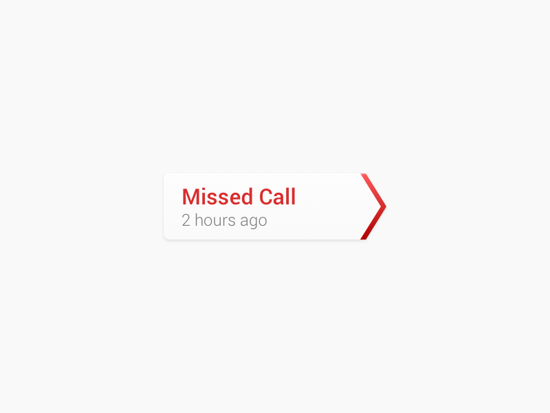 Missed Call Indicator  ui android wip phone retina hidpi sketch