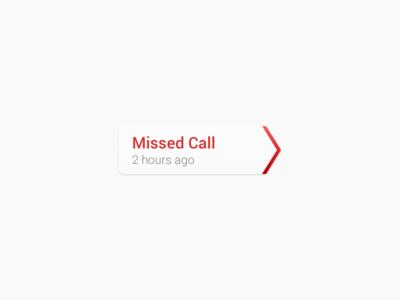 Missed Call Indicator  ui android wip phone retina hidpi sketch