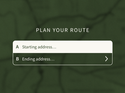 Route Planning UI [WIP] ui wip ux sketch