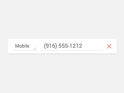 Edit Phone Number UI vector ui android phone element retina sketch