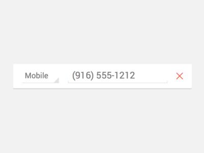 Edit Phone Number UI