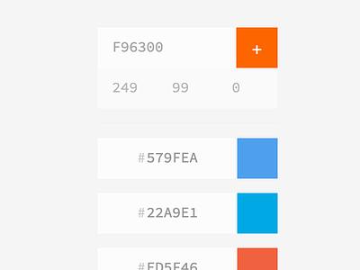 Color Saving ui ux angular colors hex rgb