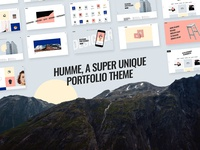 Humme, a super unique portfolio theme!