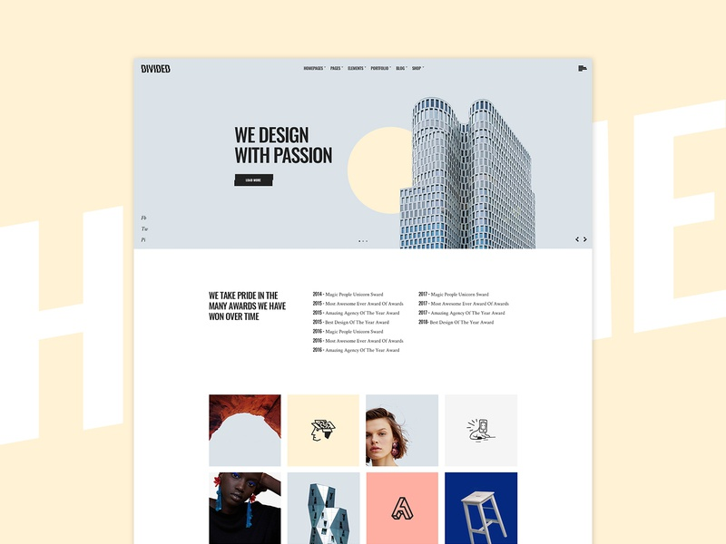 Humme - Design Studio Home yellow agency slider home homepage digital web clean wordpress ux ui colors web design creative design
