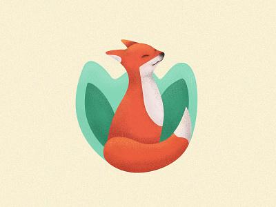 Mr. Fox character design cartoon creative illustator texture green red art animal fox drawing illustration colors