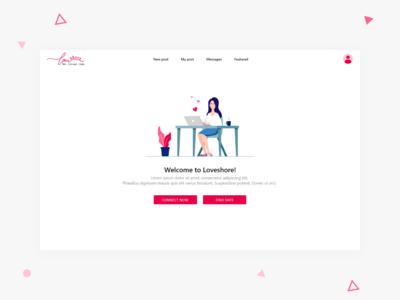 Dating Web App - Concept design