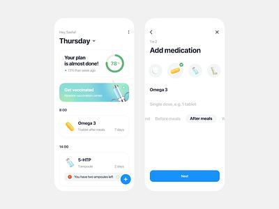 Free Pills Tracker App cgi 3d clean minimal free medicine pills health tracker app mobile ios freebies