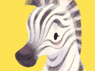 Zebra childrens illustration zoo animals zoo zebra cute
