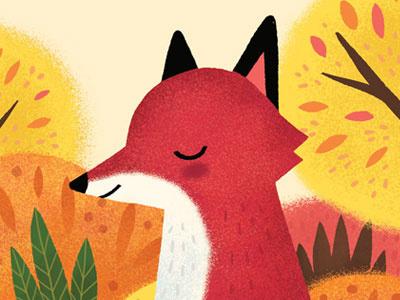 Autumn Fox animals childrens books illustration cute woodland fall autumn fox