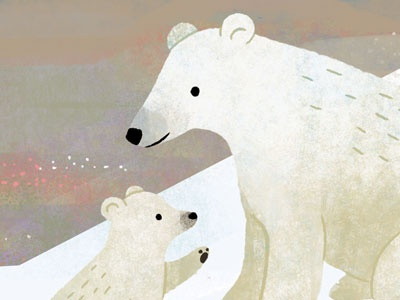 Polar Bears childrens books educational animals north pole arctic cute nature illustration polar bears