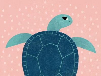 Sea Turtle turtle illustration ocean marine life sea creatures sea turtle