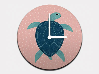 Smiling Sea Turtle Clock