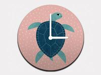 Smiling Sea Turtle Clock