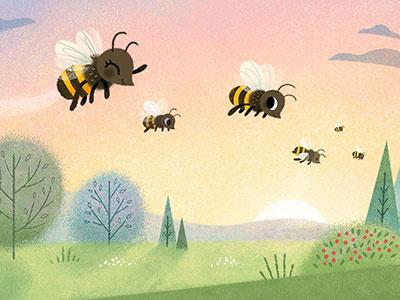 Hello Honeybees books honey honeybees insects bees illustration childrens books kidlit