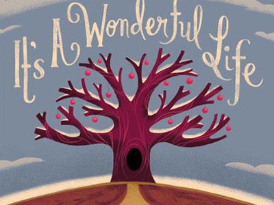 Wonderful Life holiday its a wonderful life retro illustration ornaments tree nature the nimbus factory