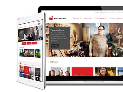 Website corporate webdesign lybech morten denmark
