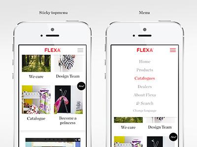 Mobile site responsive mobile website children menu